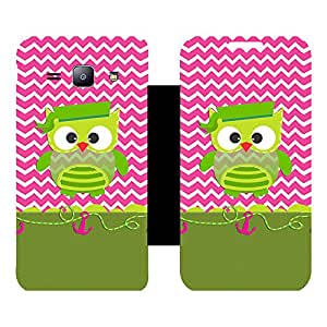 Phone Candy Designer Flip Cover with hi-res printed Vinyl sticker wrap-around for Samsung Galaxy J1