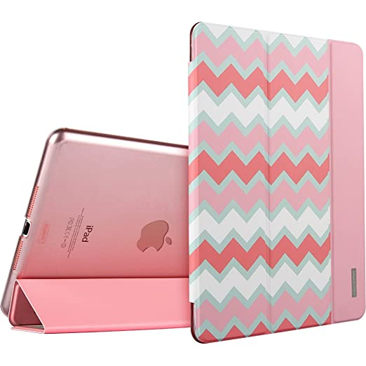 iPad Mini Case, iPad Mini Case Pink, ESR Slim Fit Leather Case with Stand and Auto Sleep / Wake Feature for iPad Mini 1 / iPad Mini 2 / iPad Mini 3 (Pink Chevron)