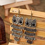 tinxi® bronze owl pendant earring jewelry retro ladies