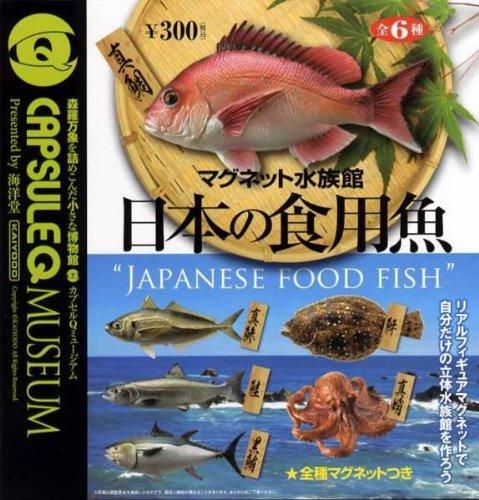 """カプセルQミュージアム マグネット水族館 日本の食用魚 """"JAPNESE FOOD FISH"""" 全6種セット"""