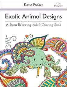 Adult coloring book stress relieving animal designs book