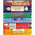 R�ucherst�bchen 12 Schachteln Nag Champa Varianten Satya Goloka 182g Incense Sticks