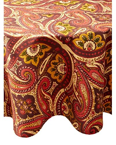 "April Cornell Paris Paisley 88"" Round Tablecloth, Chocolate"