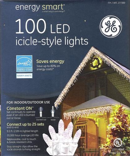 Ge Energy Smart 100 LED Icicle-style Warm White