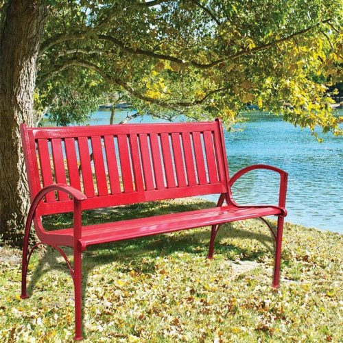 Innova C62810 Double Curved Bench, Synthetic Red