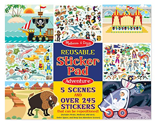 Melissa & Doug Resuable Sticker Pads Set: Adventure - 245+ Stickers (Sticker Pads compare prices)