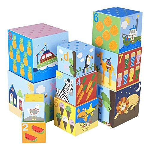 JoJo Maman Bebe Stacking Cubes - 1