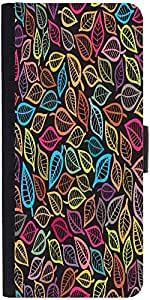Snoogg A Seamless Pattern With Leafdesigner Protective Flip Case Cover For Lg G3