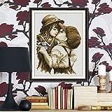 Anself DIY Handmade Needlework Cross Stitch Set Embroidery Kit Precise Printed Pure Kiss Design Cross Stitching 295 37cm Home Decoration