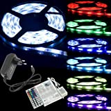 5M 5 mètres SMD 5050 LED Ruban alimentation Strip RGB LED Lamp Bande 44 Touches IR Télécommande LD134