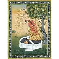 Exotic India Raga Kumbha - Water Color Painting On Paper - Artist: Kailash Raj