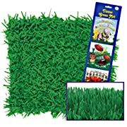 Beistle 57161 2-Pack Packaged Tissue Grass Mats Party Decoration, 15 by 30-Inch
