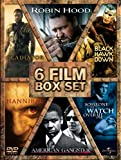 6 Film Box Set: Gladiator/Robin Hood/American Gangster/Hannibal/Black Hawk Down/Someone To Watch Over Me [DVD]