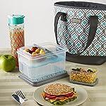 Signature Collection Melbourne Designer Bag with Matching Lunch Set (Grey Aqua Leaf Drop)