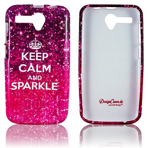 Mobistel Cynus T6 Silikon-Hülle KEEP CALM AND SPARKLE weiche Tasche Cover Case Bumper Etui Flip smartphone handy backcover thematys®