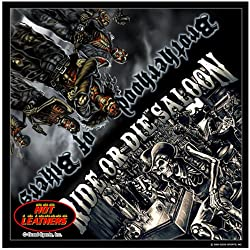 """Hot Leathers Signature Bandanas Original Design, 21"""" x 21"""" - BANDANA RIDE OR DIE SALOON, """"Brotherhood of Bikers"""" by Officially Licensed & Trademarked Products"""