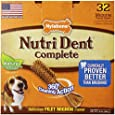 Nylabone Nutri Dent Complete Medium Filet Mignon Flavored Dog Treat Bone, 32 Count