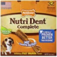 Nylabone Nutri Dent Complete Medium Filet Mignon Flavored Dog Treat Bone