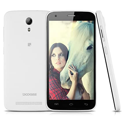 "DOOGEE Y100 3G Smartphone débloqué 5,0"" IPS OGS HD écran 1280 x 720 mégapixel Android 4.4 MTK6592 Octa Core Mobile Dual SIM 1Go RAM 8Go ROM caméra 8MP&5MP GPS WIFI Bluetooth Smart Wake LED flash tél&eacut"