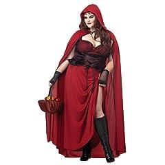 California Costume Collection Women's Dark Riding Hood Plus Size Costume