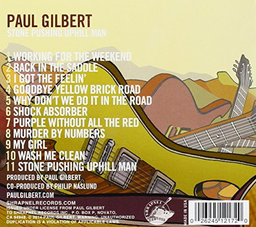 Original album cover of Stone Pushing Uphill Man by Paul Gilbert