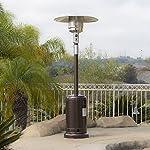 Belleze 48,000BTU Premium Patio Heater, Propane, CSA Certified, Hammered Bronze