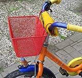 Kinderfahrradkorb Metall, beschichtet, Kinder Fahrrad Lenker Einkaufs Korb, rot (LHS)