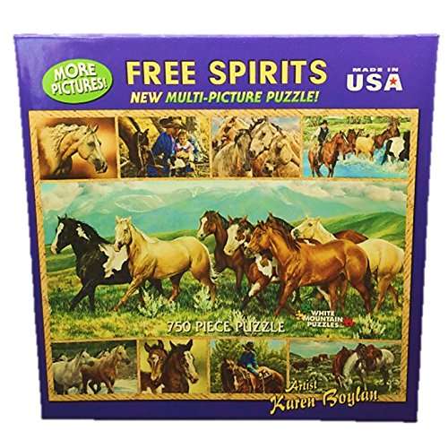 White Mountain Jigsaw Puzzle Free Spirits Horse 750 Pieces
