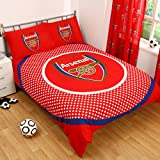 Arsenal Official Bullseye Double Duvet Cover Set - Red/White