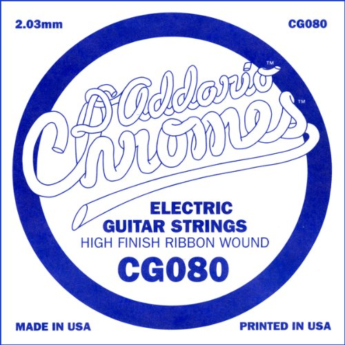 D'Addario Cg080 Flat Wound Electric Guitar Single String, .080