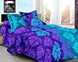 Ahmedabad Cotton Basics 100% Cotton Double Bedsheet With 2 Pillow Covers