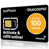 BlueCosmo IsatPhone 100 Unit Global Satellite Phone Prepaid Service SIM Card for Inmarsat IsatPhone Pro and IsatPhone 2-77 Minutes - 200 SMS Text Messages - 90 Day Expiry - No Activation Fees (Color: 3: 100 Unit SIM (77 Minute / 90 Day))