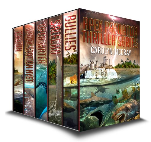 Warning, if you ever hope to swim in the ocean again, this collection of books is NOT for you! Are you glued to Shark Week, Sharknado, Jaws, or Jurassic Park? Apex Predator Thriller Trilogy by Carolyn McCray is going to be your new feeding frenzy!