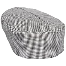 San Jamar H009 Poly Cotton Blend Pill Box Hat, X-Large, Hounds Tooth