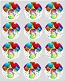 12 5th Birthday Rice Paper fairy cupcake 40mm circle toppers