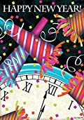 Happy New Year Garden Flag Confetti Noise Makers Midnight Party 12