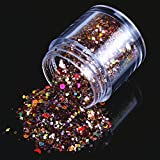 ECBASKET 1 Jar Hottest Hexagon Shinning Color Glitter Powder Nail Powder Slices