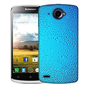 Snoogg Blue Water Drops Designer Protective Phone Back Case Cover For Lenovo S920