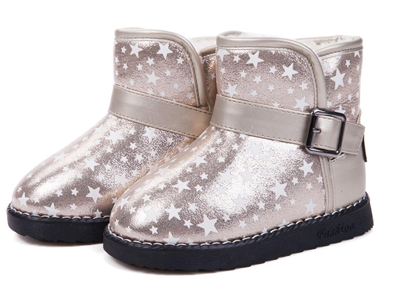 Schöne Sterne Kinder Winter warm Anti-Rutsch Leder Stiefel snow boots/Schneestiefel Kinder-Schneeschuhe Jungen Stiefel Mädchenbaumwollstiefel Kinder warmen stiefel Fashion Kinder Schuhe günstig