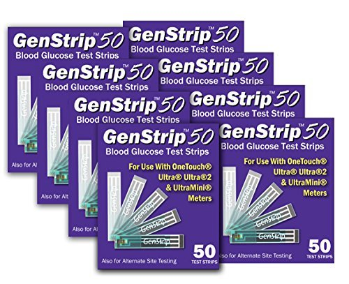 GenStrip50 Test Strips For Use with OneTouch Ultra Meters | 8 pack