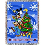 Disney, Mickey Mouse, Mickey Mouse Spread Cheer 48-Inch-by-60-Inch Acrylic Tapestry Throw by The Northwest Company