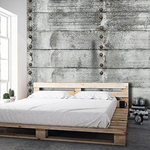 Vlies fototapete 350x245 cm top tapete wandbilder for Wandtapete grau