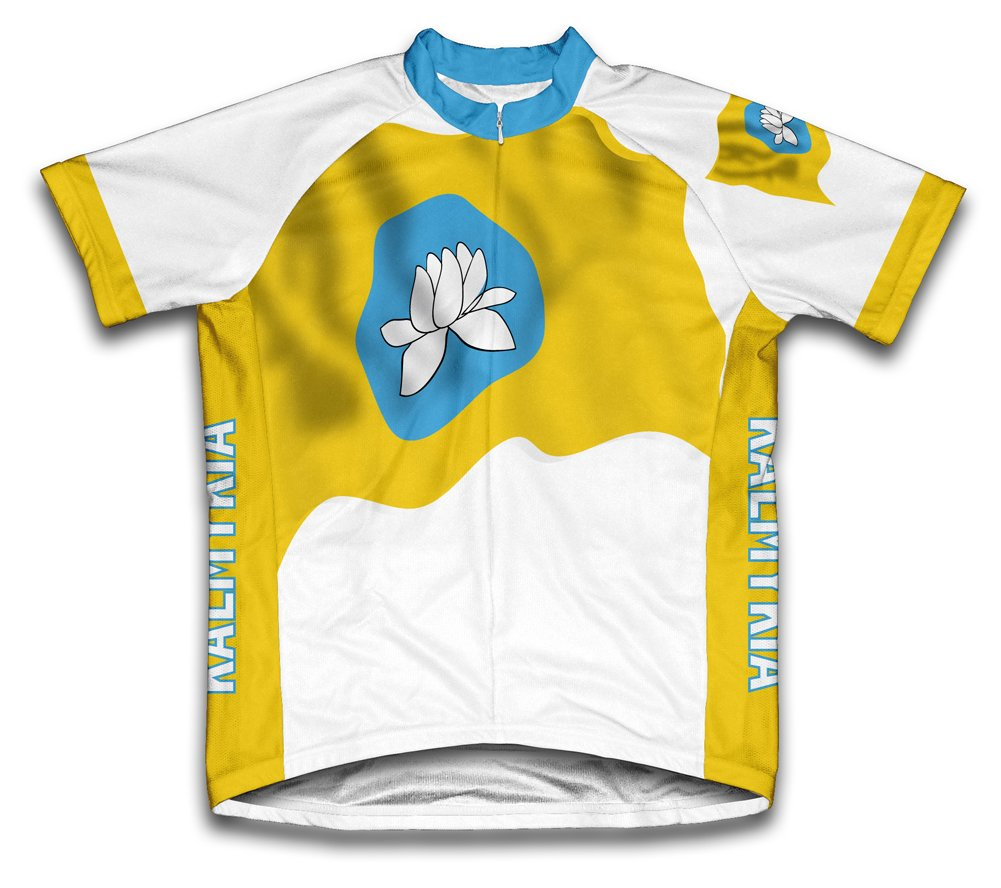 цены Kalmykia Flag Short Sleeve Cycling Jersey for Women