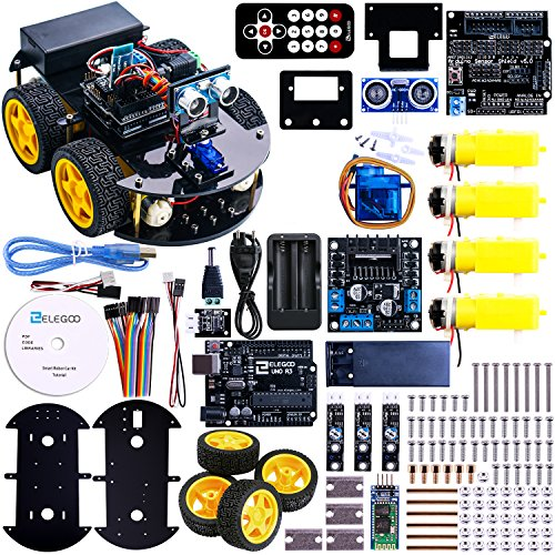 UNO Project Smart Robot Car Kit with UNO R3,Ultrasonic Sensor, Bluetooth module,ect Educational Toy Car for Arduino (Include CD) (Bluetooth Smart Module compare prices)