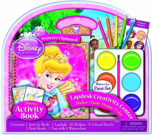 Bendon Disney Princess Activity Lapdesk with Jumbo Paints - 1