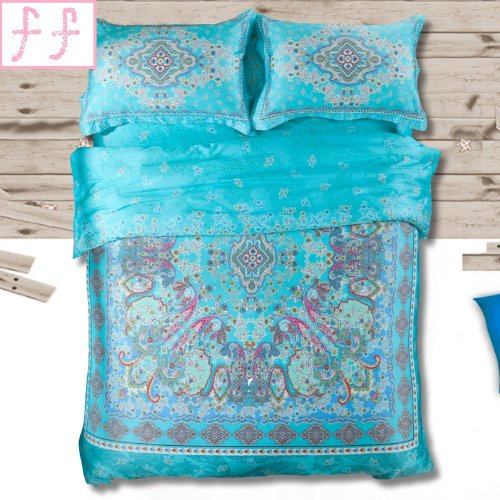 Peacock Print Bedding 2644 front