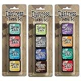 Ranger Tim Holtz Distress Mini Ink Pad Kits - #13, #14 and #15 Bundle (Color: Original version)