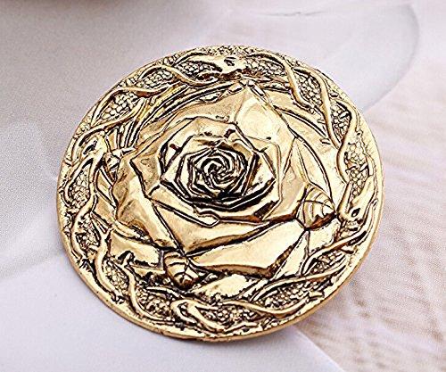 Le Cronache del Ghiaccio e Fuoco Casa Tyrell di Alto Giardino Rose spilla pin badge Game Of Thrones Decoration