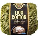 Lion Brand Yarn 760-134D Lion Cotton Yarn, Avocado