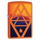 Zippo Geometric Flame Design (Color: Orange Matte, Tamaño: One Size)